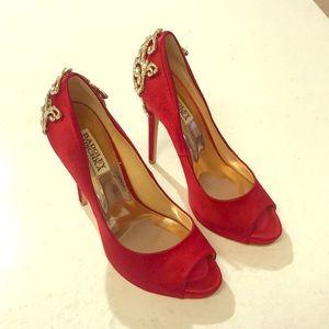 Badgley Mischka Red Heels